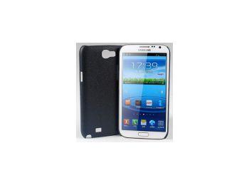 Jekod Shield bőrhatású műanyag hátlaptok kijelzővédő fóliával Samsung N7100, N7105, Galaxy Note 2 fekete*