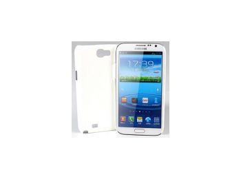 Jekod Shield bőrhatású műanyag hátlaptok kijelzővédő fóliával Samsung N7100, N7105, Galaxy Note 2 fehér*