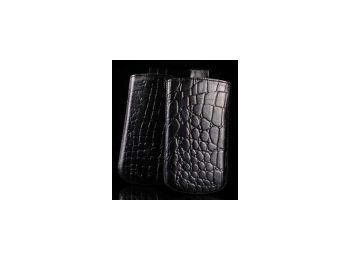 Telone Special Croco álló kihúzhatós bőrtok Samsung i90