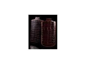 Telone Special Croco álló kihúzhatós bőrtok Sony Ericss