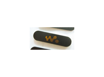 Sony Ericsson W595 logo matrica fekete-narancs*