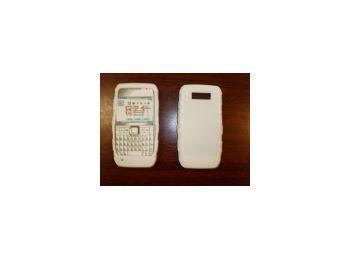 Nokia E71 puha szilikon  tok fehér*