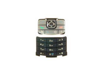 Nokia N80 alsó-felső billentyűzet ezüst-fekete*