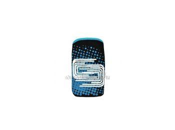 Neoprén mintás álló tok kék (iphone 5 méret) (816)