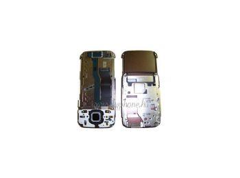 Nokia N85 csúszka mechanikával,  átvezető fóliával,  felső billentyűzet panellel réz (swap)