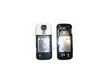 Nokia 5000 középső keret hangszóróval rezgővel fehér kameratakaróval (swap)