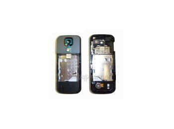 Nokia 5000 középső keret hangszóróval rezgővel szürke kameratakaróval (swap)
