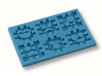 Puzzle szilikon fondant formázó