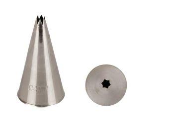 4 mm-es rozsdamentes csillag alakú nagyméretű díszítőc