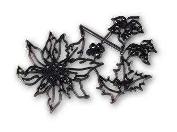 Mikulásvirág patchwork fondant kiszúró