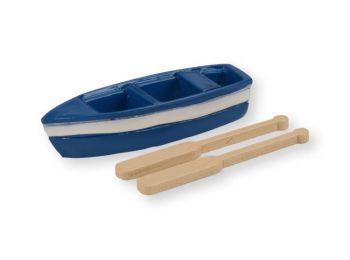 Mini csónak evezőkkel műanyag tortadísz szülinapi tort�