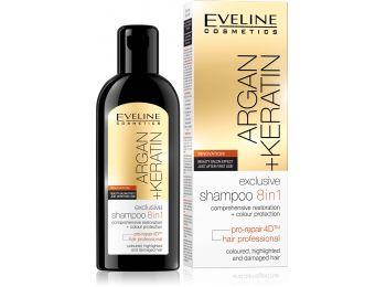 Eveline Argán+Keratin exkluzív sampon 8in1, 150 ml