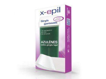 X-Epil azulénes gyantapatron széles görgőfejjel + 5 db lehúzó textília szett XE9006