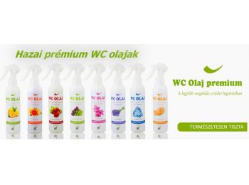 Hazai WC olaj prémium többféle illattal 200 ml. (alma-fah