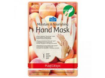 PureDerm hidratáló és bőrpuhító barackos kézmaszk, 1