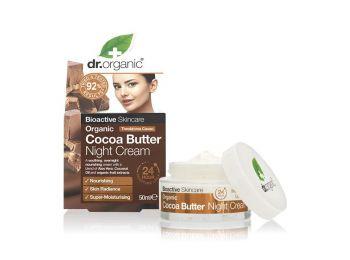 Dr Organic éjszakai arckrém bio kakaóvajjal, 50 ml