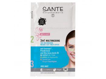 Sante 3 az 1-ben multimaszk matt és feszes arcbőr, 3 x 3 ml