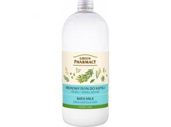 Green Pharmacy fürdőtej olíva és rizstej kivonattal, 1000 ml