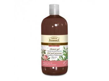 Green Pharmacy gyógynövényes tusfürdő muscat rózsa és zöld tea kivonattal, 500 ml