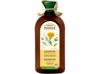 Green Pharmacy sampon normál és zsíros hajra körömvirág kivonattal, 350 ml