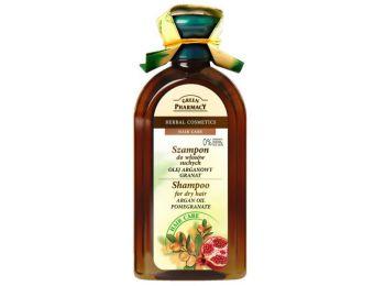 Green Pharmacy sampon száraz hajra argán olaj és gránátalma kivonattal, 350 ml