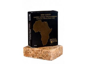Mosó Mami MM Gold Afrikai shea vajas fekete szappan, 100 g