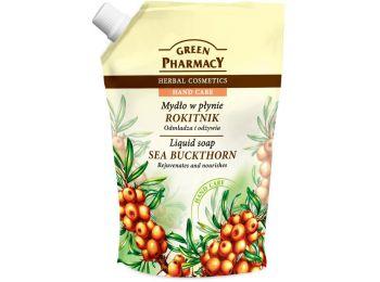 Green Pharmacy gyógynövényes folyékony utántöltő szappan homoktövis kivonattal, 465 ml