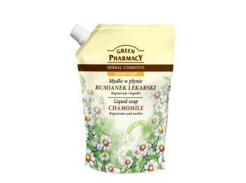 Green Pharmacy gyógynövényes folyékony utántöltő szappan kamilla kivonattal, 465 ml