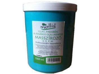 Mollis illat ásványiolaj és parabénmentes masszírozó krém, 1 l