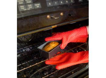 Hőálló szilikon sütőkesztyű, konyhai edényfogó keszt