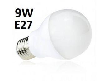 LED izzó 9W - hagyományos - E27 - MF - sima