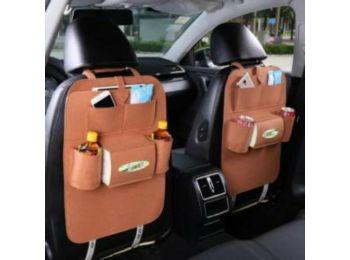Autóülés háttámla védő, tároló zsebe