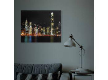 LED-es fali hangulatkép - HongKong