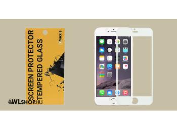 iPhone 6 Plus 5D Edge to edge üvegfólia - Fehér