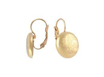Arannyal festett fülbevaló (franciakapcsos)