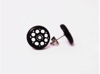 Fekete csipke fülbevaló (bedugós)