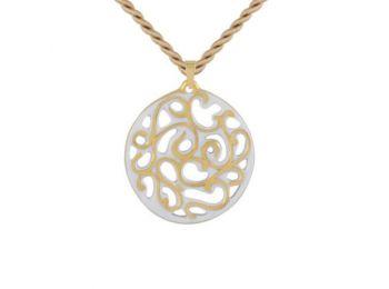 Fehér arany kicsi kerek aero medál
