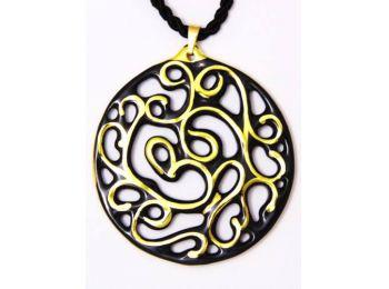 Fekete arany kerek aero medál
