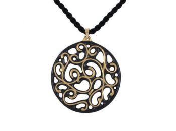 Fekete arany kicsi kerek aero medál