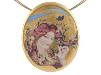 Faragó Tavasz, arannyal festett medál