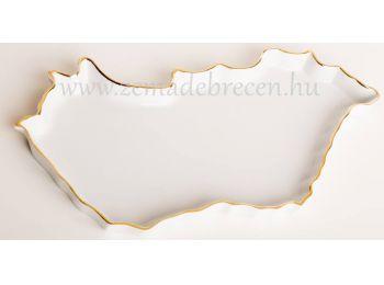 Magyarország alakú tál