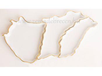 Magyarország alakú, 3 részes tál