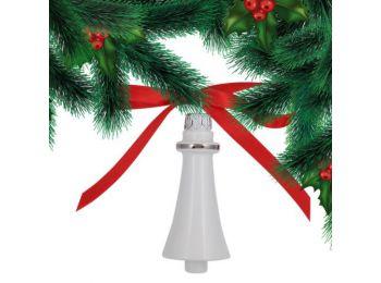 Platina csengő porcelán karácsonyfadísz