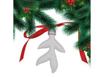 Platina jeges ágacska porcelán karácsonyfadísz