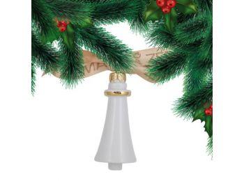 Arany csengő porcelán karácsonyfadísz