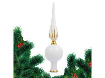 Arany csúcsdísz porcelán karácsonyfadísz