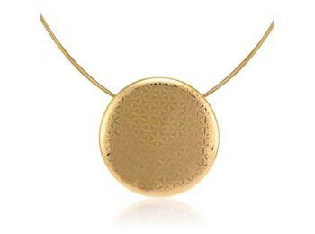 Minimál porcelán arannyal festett medál (nagy)