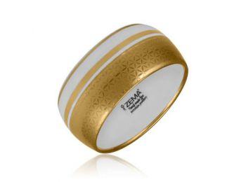 Minimál porcelán arannyal festett karkötő (vastag)