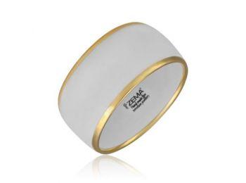 Minimál porcelán fehér-arany karkötő (vastag)
