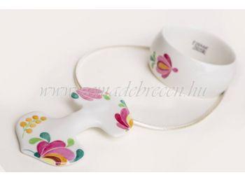 Rózsaszín virágos porcelán matyó mintás szett